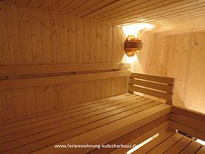 Ferienwohnung mit Sauna und Garten